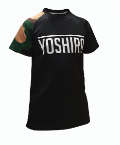 Yoshira Forest Camo Short Sleeve Enduro MTB Jersey Front